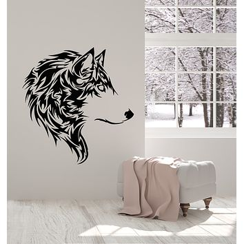 Vinyl Wall Decal Wolf Beautiful Animal Wild Tribal Home Room Decor Stickers Mural (g736)