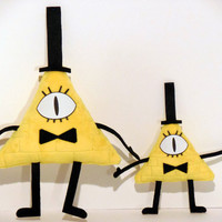 Gravity Falls - Bill Cipher 7 inch Fan-made Minky Mini-Plush