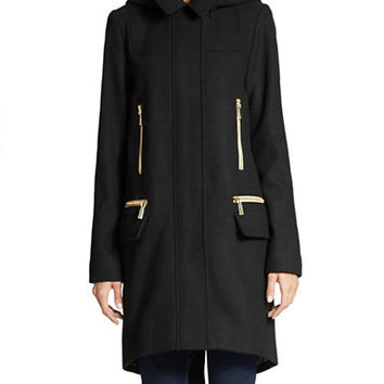 Vince Camuto Hooded Oversized Coat