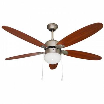 Ceiling Fan with Light Paeamer VCP52M 60W Aged brass Wood