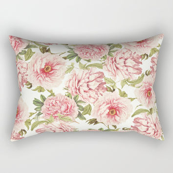old fashioned peonies Rectangular Pillow by Sylvia Cook Photography