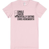 Mentally Dating Chris Hemsworth-Female Light Pink T-Shirt