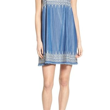 Plenty by Tracy Reese 'Flyaway' Embroidered Babydoll Dress | Nordstrom