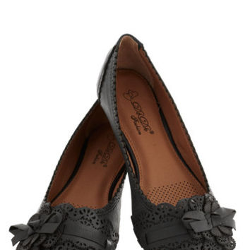 A Tribute to Archi-texture Flat in Black | Mod Retro Vintage Flats | ModCloth.com