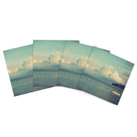 "Robin Dickinson ""Must Sea"" Ocean Indoor/Outdoor Place Mat (Set of 4)"