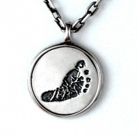 Custom Baby Footprint Pendant - Jak Figler - Jewelry - Gift - Necklace - Made to Order - Mother's Day - New Moms - New Dads