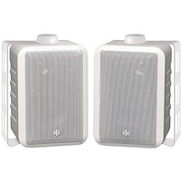 """Bic America 4"""" Rtr Series Indoor And Outdoor 3-way Speakers (white)"""