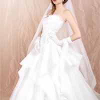 A-line Strapless white Floor-Length cheap 2012 Agora wedding gowns BABG002 -Shop offer 2012 wedding dresses,prom dresses,party dresses for girls on sale. #Category#