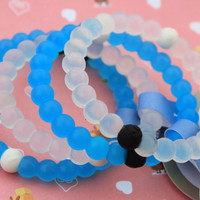 Limited Edition Blue Lokai And White Bracelet Mud From Dead Sea Water (S,M,L)