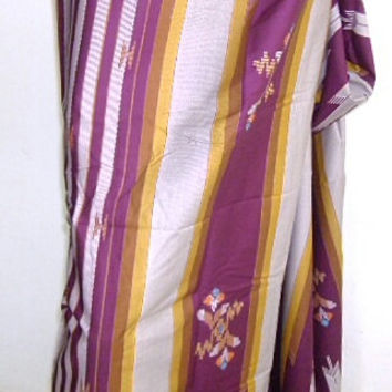 mens sarong purple gold stripe 11A