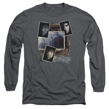Harry Potter - Trio Collage Long Sleeve Adult 18/1 Officially Licensed Shirt