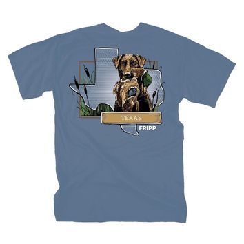 Dog & Duck Texas T-Shirt in Marine Blue by Fripp Outdoors