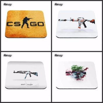 2017 Black Background CS AK 47 Mouse Pad Computer Mousepad CS GO Large Gaming Mouse Mats To Mouse Gamer Anime Rectangular Mouse