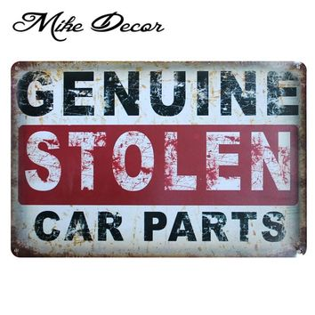 GENUINE CAR PARTS Vintage Metal Tin Sign Party Wall Plaque Poster Painting Garage Decoration 20*30 CM AA-769