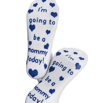I'm Going to Be A Mommy Labor Socks Blue