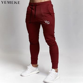 New Gyms clothing in men pants men fashion Jogger Pants Skinny casual trousers pants top quality sweatpants