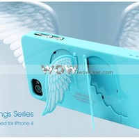 Angel Wings Series Hard iPhone 4 Case-Black [028293] : iPhone Case, iPad Case iwowcase.com