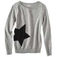 Mossimo Supply Co. Juniors Long Sleeve Star Sweater - Gray
