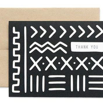 Thank You Mud Cloth Card