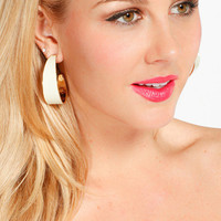 Chunky Ivory Hoop Earrings