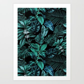 Tropical Garden Art Print by burcukorkmazyurek