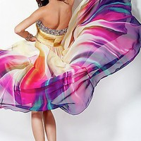 Strapless Print Prom Dresses, Jovani Prom Gowns - Simply Dresses