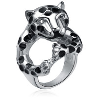 Stainless Steel Leopard Ring
