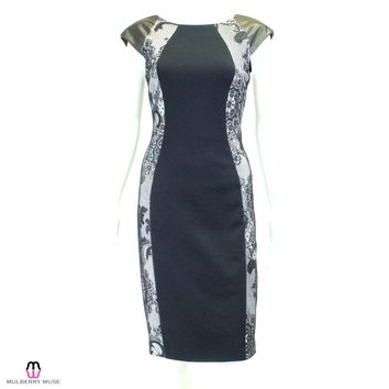 Donna Morgan Black Lace Panel Dress - 6