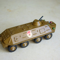 Vintage collectible armored troop-carrier (russian - БТР)