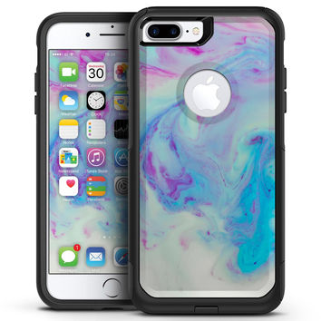 Marbleized Pink and Blue Paradise V371 - iPhone 7 or 7 Plus Commuter Case Skin Kit