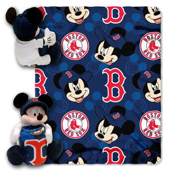 Boston Red Sox MLB Mickey Mouse with Throw Combo