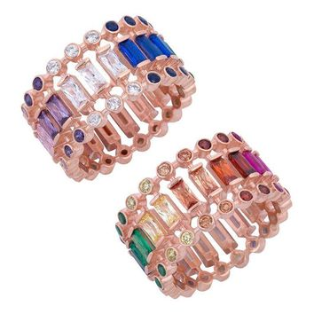 3 Row Colorful Ring