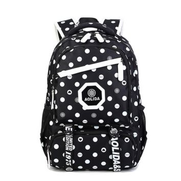 Cute Lightweight Large Canvas College Backpack