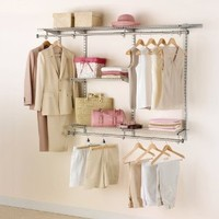 Rubbermaid Configurations Custom Closet Classic Kit, Titanium, 3-6 Foot, FG3H1102TITNM