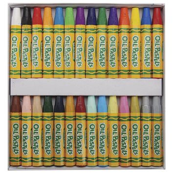 Crayola; Oil Pastels; Art Tools; 28 ct; Bright, Bold Opaque Colors; Jumbo Size;