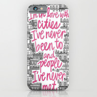 Wishing for Travel iPhone & iPod Case by Pink Berry Patterns