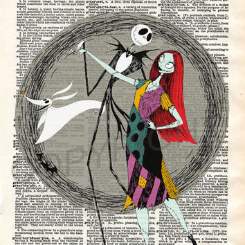 The Nightmare Before Christmas Dancing Dictionary Art Print
