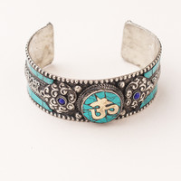 Turquoise Om Cuff