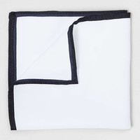 White Outline Pocket Square - New This Week - New In