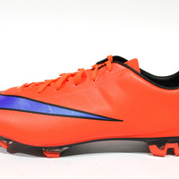 Nike Men's Mercurial Mercurial Veloce II FG Bright Orange/Blue Soccer Cleats 651618 650