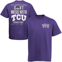 TCU Horned Frogs 2013 Cowboys Classic Cajun Don't Mess With TCU T-Shirt - Purple - http://www.shareasale.com/m-pr.cfm?merchantID=7124&userID=1042934&productID=520935520 / TCU Horned Frogs