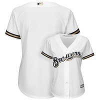 Majestic Milwaukee Brewers Cool Base Replica Jersey - Women's, Size: