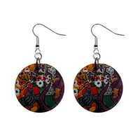 Henri Matisse Purple Robe and Anemones Dangle Earrings