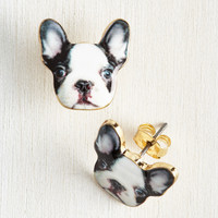 Best-Dressed in Show Earrings in Dog | Mod Retro Vintage Earrings | ModCloth.com