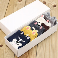 5 Pairs of Chic Various Cartoon Dogs Pattern Socks For Women