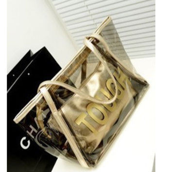 Plastic Transparent Crystal Korean Casual Shoulder Bags [6582419719]