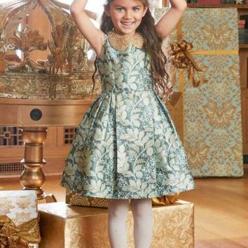 Girls Ivy Brocade Dress | Chasing Fireflies