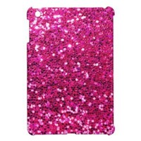 Faux Glitter Look Pink Glam iPad Mini Cases from Zazzle.com
