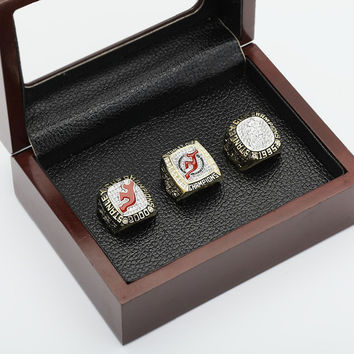 Replica One set (3PCS)  NHL 1995,2000 And 2003 NEW JERSEY DEVILS STANLEY CUP Championship Rings