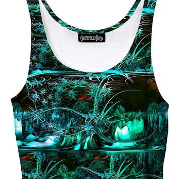 Tropic Thunder Alien Galaxy Crop Top